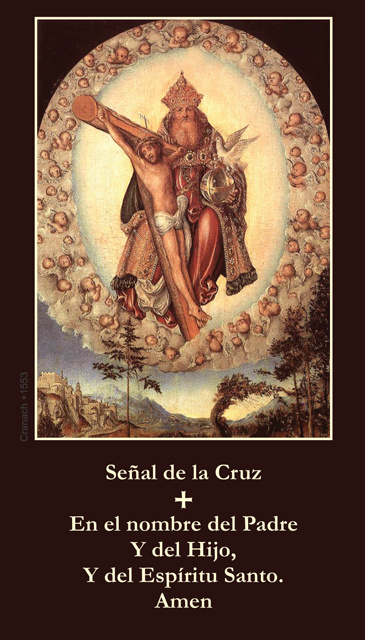 *SPANISH* Sign of the Cross Prayer Cards